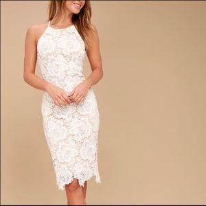 Lulus Temps De L'Amour Lace Midi Dress